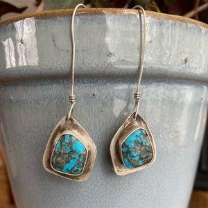 Artisan designed turquoise earrings 💙